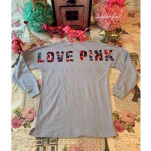 Victoria's Secret Pink Long Sleeve Floral Logo